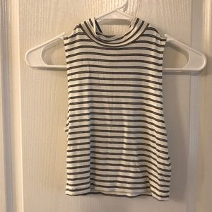 Striped Crop Top Women's Size Small